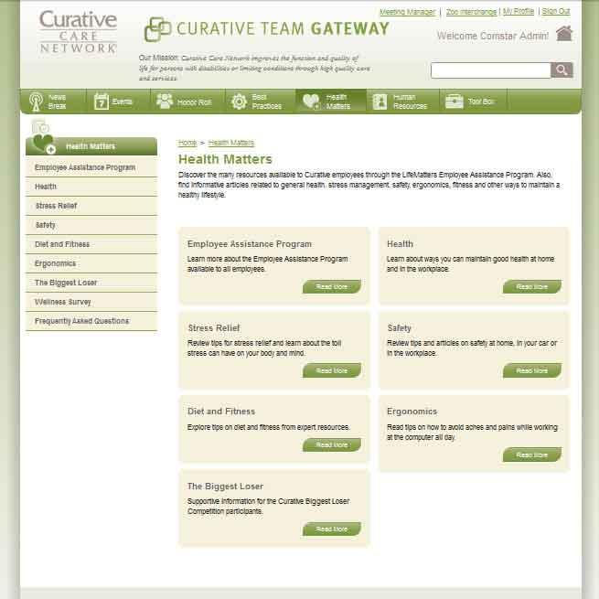 Curative Care Team Gateway