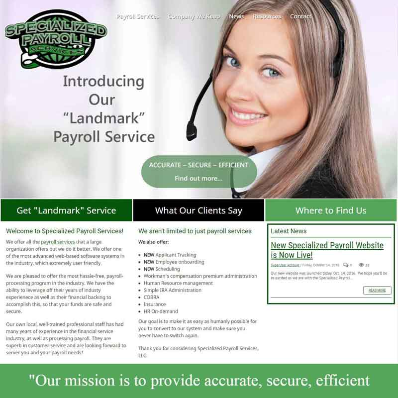 Specialized Payroll Service